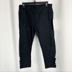 90 Degree By Reflex Pants - New 90 degrees by reflex black side slit capris XL